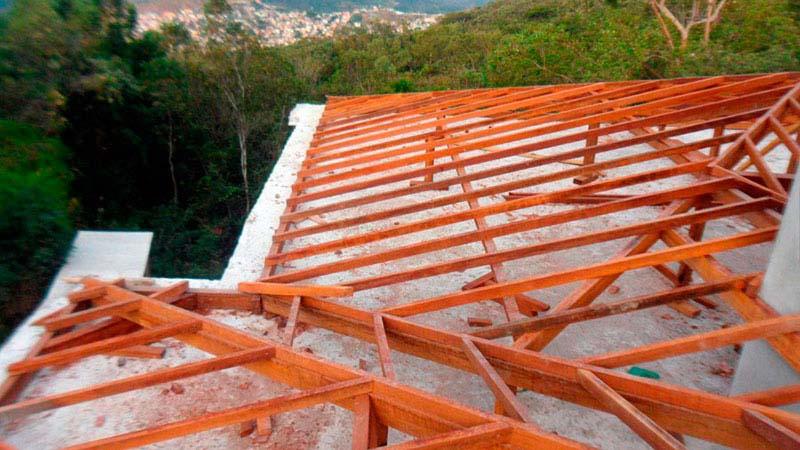Caibro de madeira para telhado preço