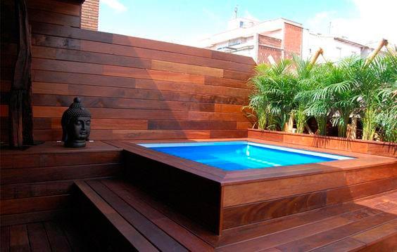 Madeira para deck de piscina tora tora for Piscinas prefabricadas pequenas